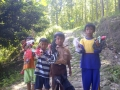 140531 Kids collected plastic rubbish at project